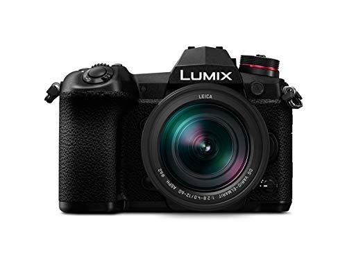 Panasonic Lumix DC-G9LEC-K Cámara Evil de 20.3 MP (20FPS AFC RAW, Estabilizador Óptico de 5 Ejes, Live Mos, 4K Ultra HD, Pantalla Táctil) Kit con Objetivo LEICA 12-60mm / F2.8-F4, Bluetooth, Negro