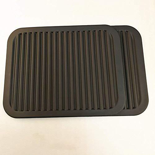 Favsonhome Silikon-Topfuntersetzer, 22,9 x 30,5 cm, groß, Mehrzweck-Trockenuntersetzer, Topfhalter, wasserdicht, 2 Stück, rutschfest, flexibel, langlebig, spülmaschinenfest, Schwarz