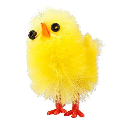 Cozyhoma - Set di 60 mini pulcini pasquali, decorazione per il cofano dell'uovo di Pasqua, in ciniglia gialla, decorazione per la casa, regalo per bambini