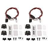 Sharplace 1:10 Foco de Lámpara LED X4 para Camión Axial SCX10 CC01 D90 TRX4 RC