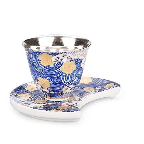 Coiffe De Té Plateado Dorado De Cerámica Tetera De Esmalte para Todo El Hogar Taza De Ceremonia De Té (Color: Tetera)
