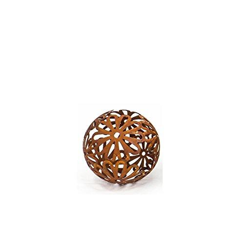 Cornbay Dekokugel Flores 15 cm Metall Rostbraun