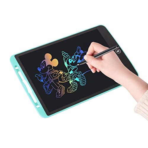 Upgrow LCD Writing Tablet, 12 Zoll LCD-Schreibtafel, Grafiktablett Schreibplatte Digital Schreibtafel Papierlos Maltafel für Kinder Schule Malen Notizen, mit Schutztasche (12 Zoll, Hellblau+Bunt)