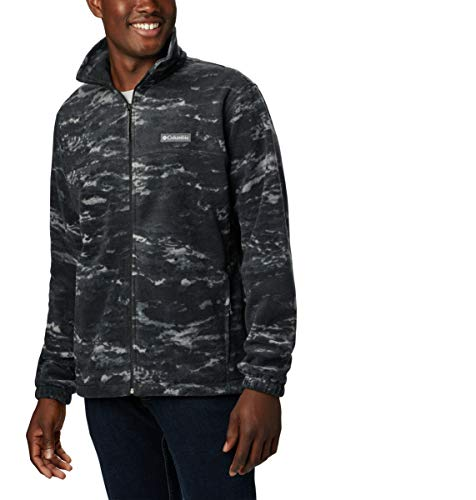 Columbia Men's Steens Mountain Printed Jacket, Black Texture camo, XX-Large