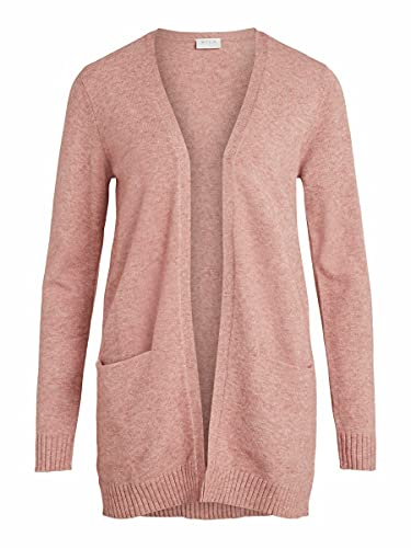 Vila Clothes VIRIL Open L/S Knit Cardigan-Noos Suter crdigan, Rosa Antigua, M para Mujer