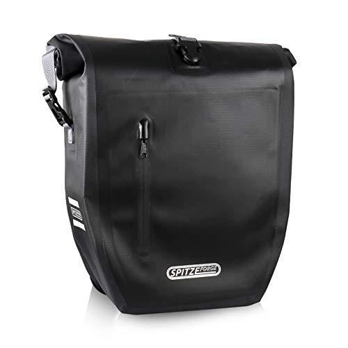 Fahrradtaschen für Gepäckträger 26L 100% Wasserdicht und PVC-freiem Fahrrad Gepäckträgertasche mit Laptopfach, 3 Reflektoren und Schultergurt Hinterradtasche für Einkaufen, Radtour und Pendeln