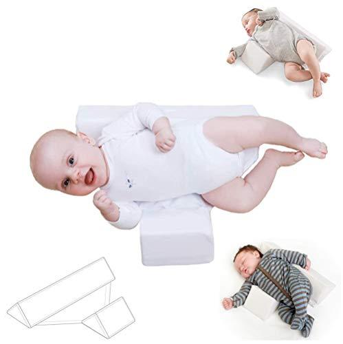BabyTools Cuscino Neonato Laterale Plagiocefalia OEKO-TEX e Made in UE-Cuscino Antireflusso e Antisoffoco Neonato-Ideale per Lettino Neonato e Culla-Federa Lavabile e Sfoderabile 100% Cotone