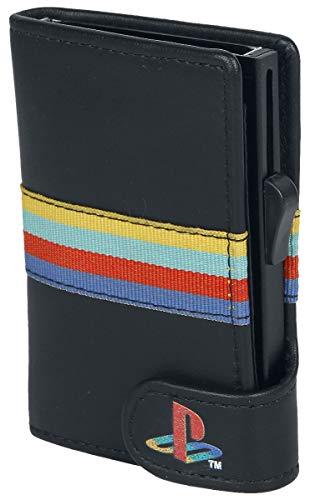 Playstation - Stripes - Geldbeutel - Kartenetui | Gaming | NEU, schwarz