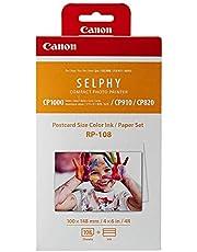 Canon RP-108 - Papel fotográfico y cartucho de tinta original para Selphy CP, color blanco, 20 x 12 x 8 cm