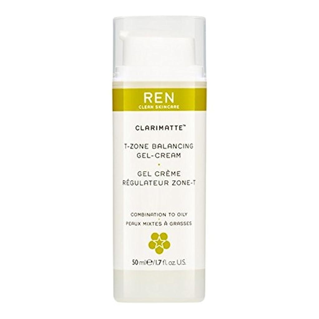 のホスト昼間手術Ren Clarimatte Tゾーンバランシングジェルクリーム、50ミリリットル (REN) (x2) - REN Clarimatte T-Zone Balancing Gel Cream, 50ml (Pack of 2) [並行輸入品]