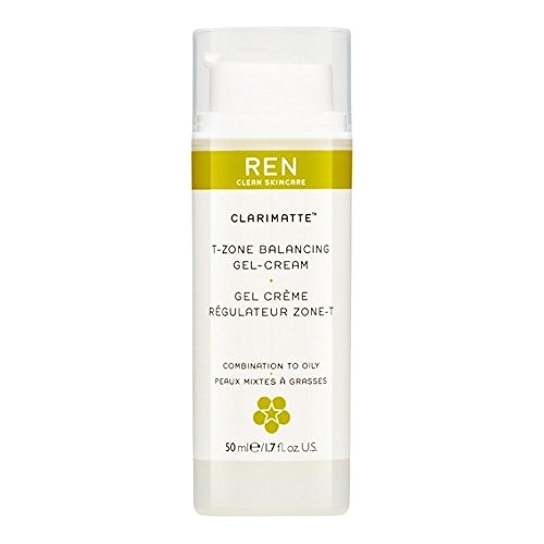 静かにめまいがランチRen Clarimatte Tゾーンバランシングジェルクリーム、50ミリリットル (REN) (x2) - REN Clarimatte T-Zone Balancing Gel Cream, 50ml (Pack of 2) [並行輸入品]