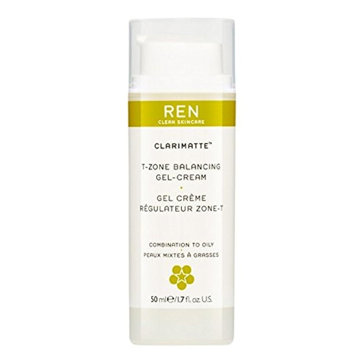土地元気な長椅子Ren Clarimatte Tゾーンバランシングジェルクリーム、50ミリリットル (REN) (x6) - REN Clarimatte T-Zone Balancing Gel Cream, 50ml (Pack of 6) [並行輸入品]