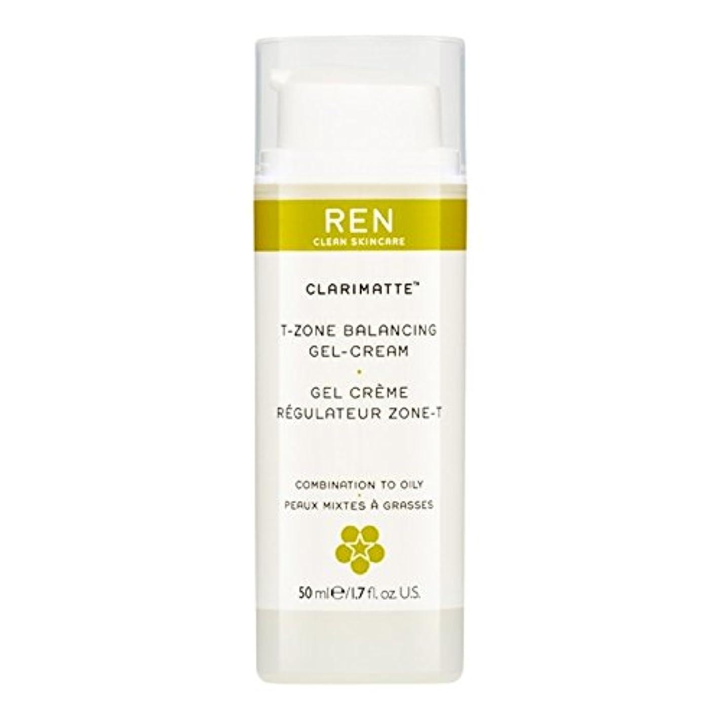 運河歩行者欠如Ren Clarimatte Tゾーンバランシングジェルクリーム、50ミリリットル (REN) - REN Clarimatte T-Zone Balancing Gel Cream, 50ml [並行輸入品]