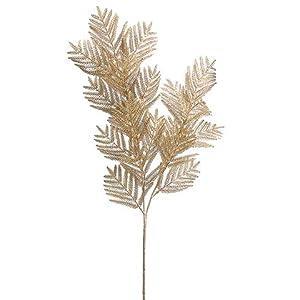 Arcadia Silk Plantation 29″ Fern Spray Gold (Pack of 12)