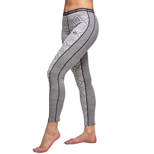 Kari Traa Women's Floke Base Layer Bottoms - Merino Wool Blend Thermal Pants Dusty Medium