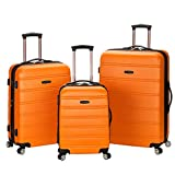 Rockland Melbourne Hardside Expandable Spinner Wheel Luggage, Orange, 3-Piece Set (20/24/28)