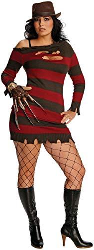 B-Creative Disfraz de Halloween Miss Freddie Krueger para Halloween de 14 a 18 aos