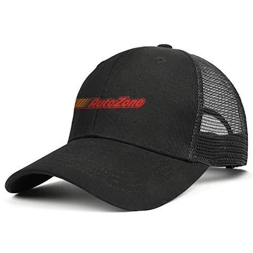 LHSPOSIFD Unisex Mens Baseball Hats Low Key Adjustable Mesh Flat Brim AutoZone-Colorful-Logo-Symbol-Flat Cap