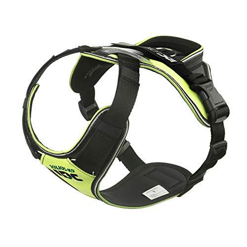 Julius-K9 IDC tuig voor Hond longwalk Neon geel/grijs l 66-86 cm 16-22 kg