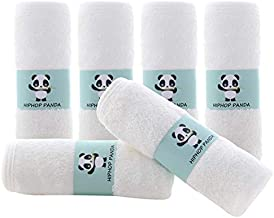 Bamboo Baby Washcloths - 2 Layer Soft Absorbent Bamboo Towel - Newborn Bath Face Towel - Natural Baby Wipes for Delicate Skin - Baby Registry as Shower(6 Pack)