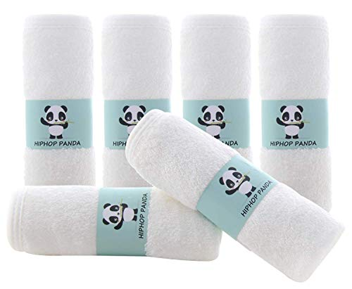 Bamboo Baby Washcloths - 2 Layer Soft Absorbent Bamboo Towel - Newborn Bath Face Towel - Natural Baby Wipes for Delicate Skin - Baby Registry as Shower( 6 Pack)