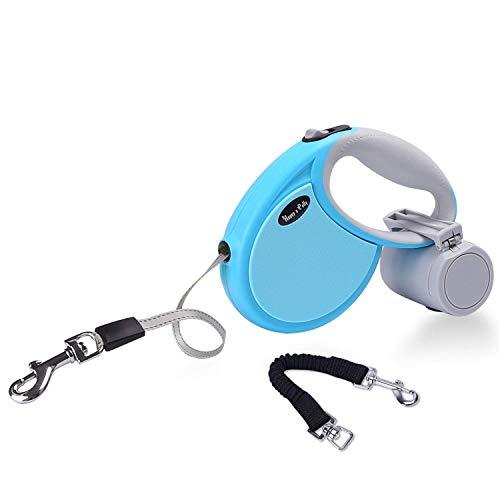 Happy & Polly Retractable Dog Leash Retractable Bungee Dog Leash Anti-pull Dog Leash Anti-bite Reflective Non-slip Handle