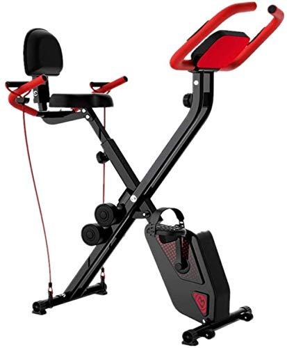 Zixin Pieghevole Indoor Cycling Bike Cyclette con Display LCD e frequenza cardiaca rilevamento Design Roller for Il Movimento Facile Adatto for Uffici Gym Uptodate