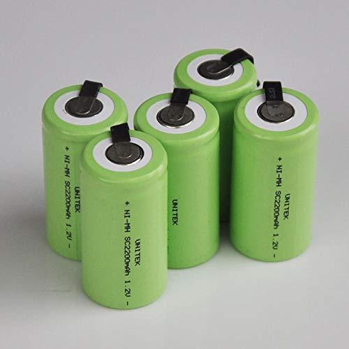 mrwellog 2200mah 1.2V SC batería Recargable celda Sub C para Taladro eléctrico Destornillador makita Bosch dewalt hitachi tools-10 Piezas SC2200