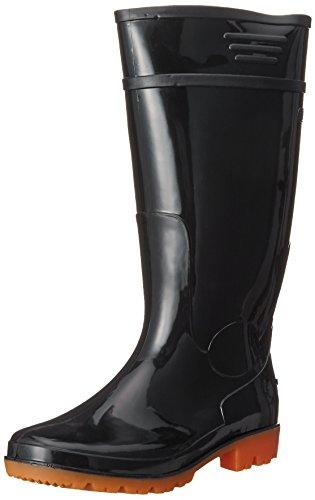 [キタ] 長靴 作業長靴 メガセーフティ PVC製衛生耐油長靴ロングタイプ KR-970 ブラック JP 25.0(25cm)
