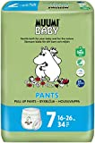 Muumi Baby Öko Windelhöschen Größe 7, 16-26 kg, 34 Empfindliche Premium Windelhöschen