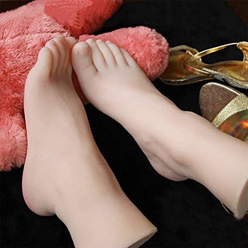 Yongqin Modelo De Pie De Silicona Realista, Lleno De Tpe, Sin Olor, No Tóxico, Modelo De Pies De Bebé Para Fotografía De Exhibición De Calcetines De Zapatos