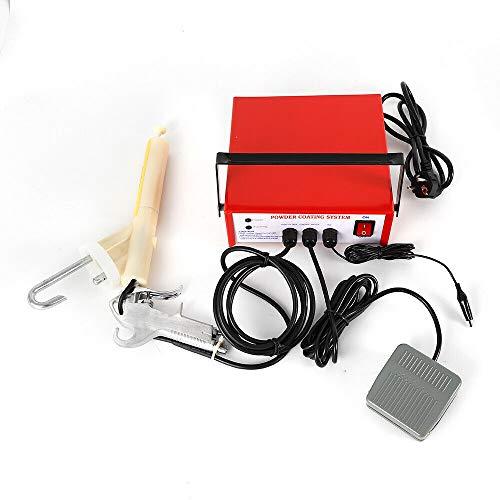 Pulverbeschichtungsgerät Pulverbeschichtung Pulverpistole Pulverbeschichten 3.3W Elektrostatische Spritzmaschine PC03-2 Rot DHL
