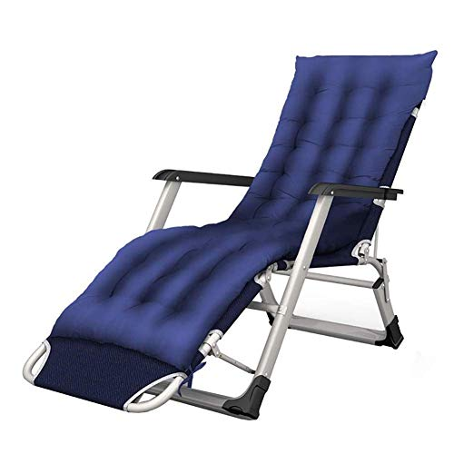 Oversize Upgraded Zero Gravity Locking Patio Lounger Chair, Folding Adjustable Portable Recliner for Office Garden Beach Pool Side Sports Outdoors Camping, Support 200kg (color : With Cushions)