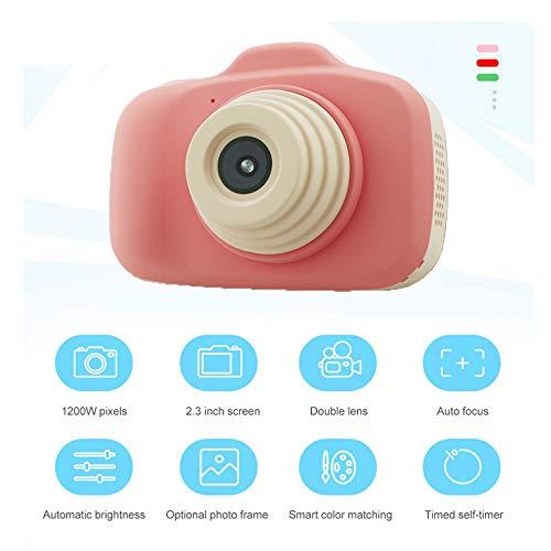 Winnes Digitale Kinderkamera, Kreative Kinder Digitalkamera Cartoon-Kamera hochauflösendes Objektiv Nachtfotografie (Pink)