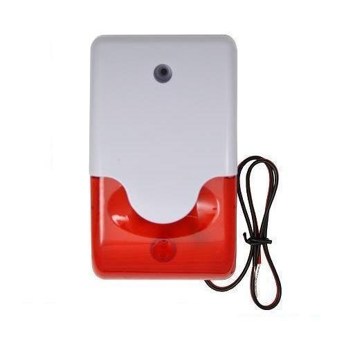 Alarmsirene mit Warnblink-Leuchte (ROT) 12V 110dB