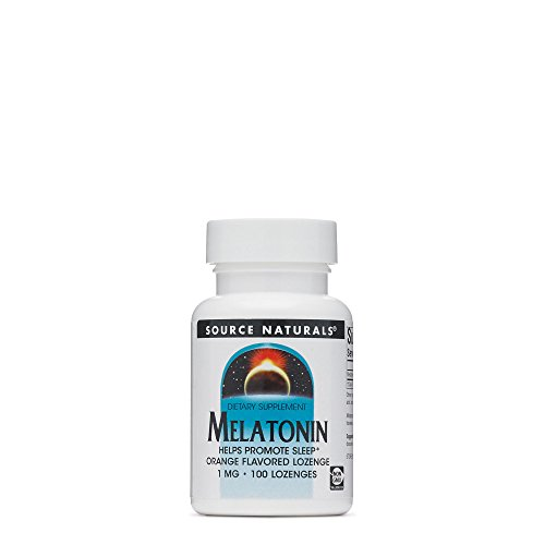Source Naturals, Melatonin Sublingual Orange 1Mg, 100 Tablets