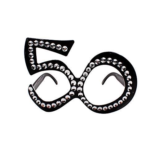 Carnavalife Gafas 50 años para Cumpleaños, Aniversario y Fiestas (50 años, 1)