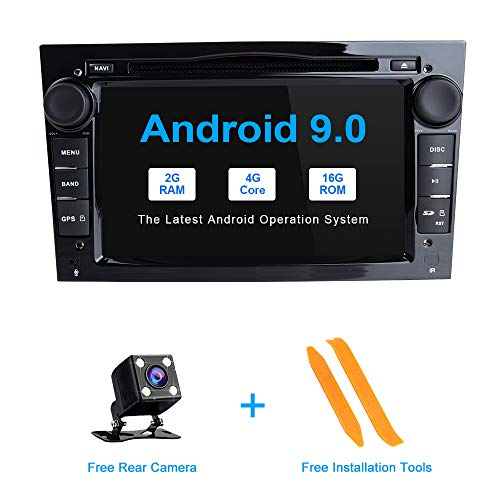 ZLTOOPAI Android 9.0 autoradio voor Opel Antara Vectra Crosa Vivaro Meriva Meriva auto stereo GPS navigatie dubbele din hoofd eenheid auto dvd-speler, zwart