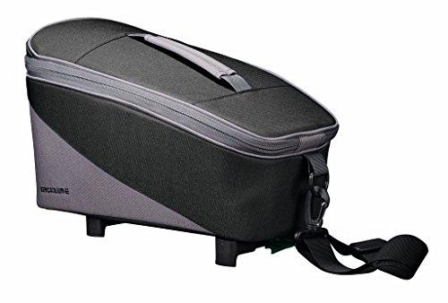Racktime Unisex– Erwachsene Talis Gepäckträgertasche, schwarz, 37x 23x 18 cm