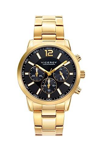 Viceroy Herren Chronograph Quarz Smart Watch Armbanduhr mit Edelstahl Armband 471051-95