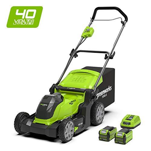 Greenworks Tools 2504707 - Cortacésped inalámbrico de iones de litio (40 V, 41 cm, sin batería ni cargador), 2504707UG