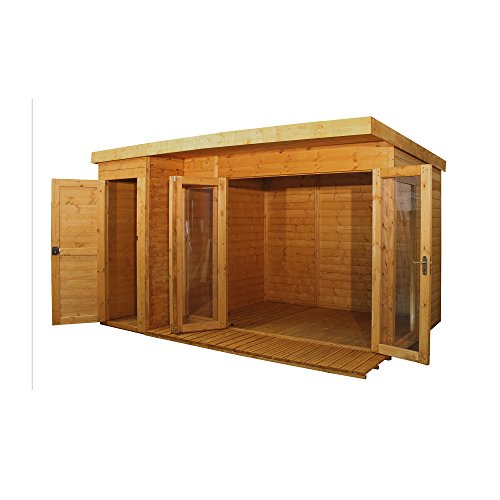Waltons 12ft x 8ft Contemporary Shiplap Pent Wooden Garden Summerhouse...