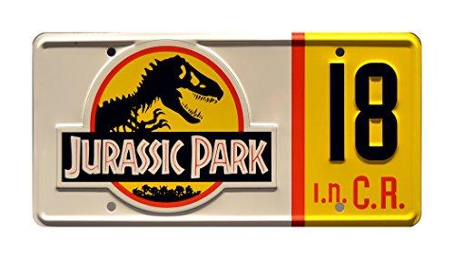 Celebrity Machines Jurassic Park | Jeep #18 | Metal Stamped License Plate