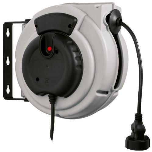 Enrollador de manguera eléctrico para corriente