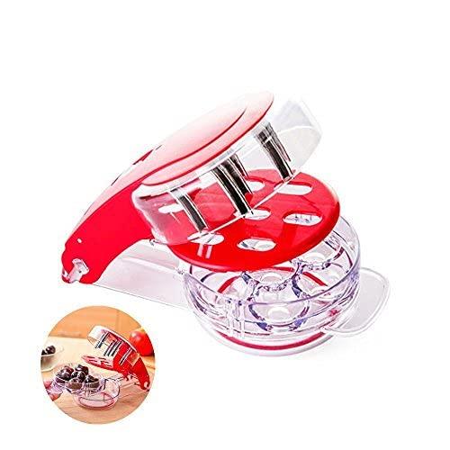 Locisne Cherry Pitter, Cherry Pitting Tool with 6 Groove Cherries Stoner Remover