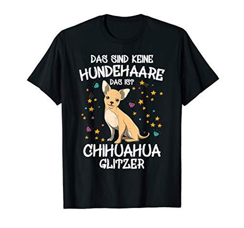 Chihuahua Glitzer Hundehalter Geschenkidee Hunde Fun T-Shirt