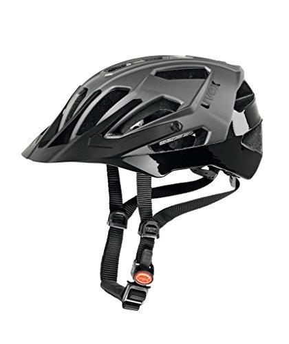 Uvex Quattro - Casco ciclismo, color plata oscuro / negro, talla 56-61