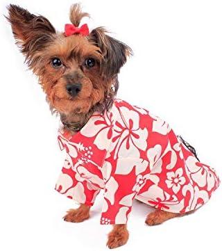 Amazon.com : Hawaiian Matching Pattern Dog Aloha Shirt in Classic ...