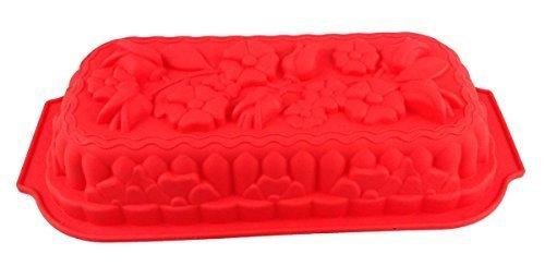 GMMH Silikonbackform Blumenstrauß rot Kuchen Backform Kuchenform Brotbackform Obstbodenform