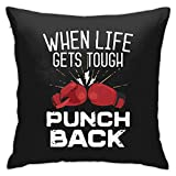 N/Q Throw Pillow Covers with Zipper Throw Pillow Cover Fashion Pillowcase for Sofa, Couch, Bed Unique Design Red Chinese Dragon Dragon Ball Art Pillowcase 18'x18' Red Boxing Gloves Black